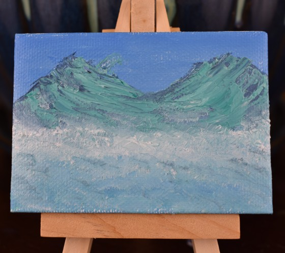 Glacial Mountain Miniature
