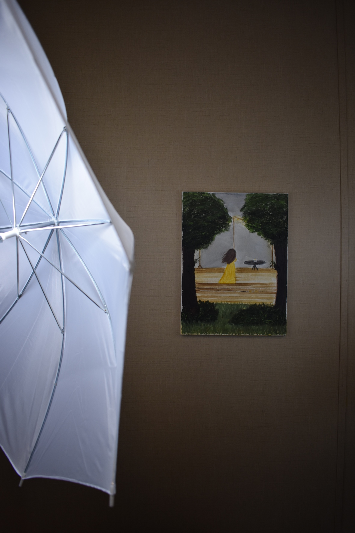 Ponder framed by light